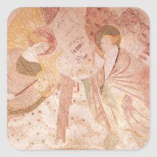 Angel Musicians Square Stickers