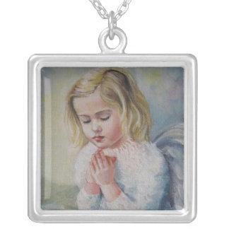 Angel Square Pendant Necklace