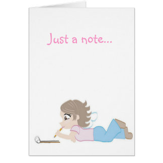 angel note greeting card