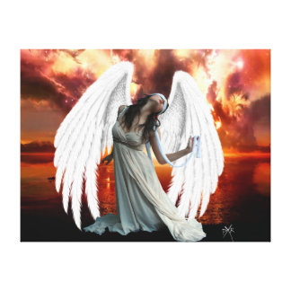 Angel of anguish Canvas Gallery Wrapped Canvas