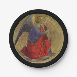 Angel of Annunciation by Fra Angelico Paper Plate