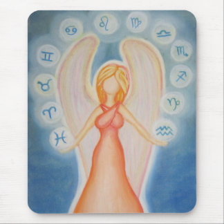 Angel of astrology mouse pad