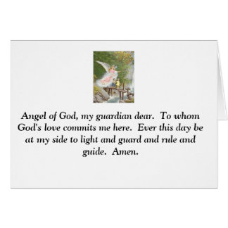 Angel of God my guardian dear! Greeting Card