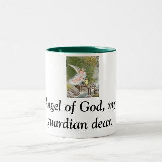 Angel of God my guardian dear! Two-Tone Coffee Mug
