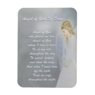 Angel of God So Dear Poem Rectangular Photo Magnet
