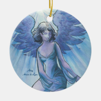 Angel of Grace Ceramic Ornament