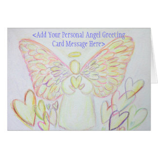 Angel of Hearts Art Custom Greeting or Note Cards