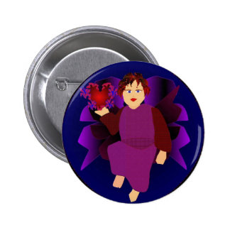 Angel Of Hearts Pinback Buttons