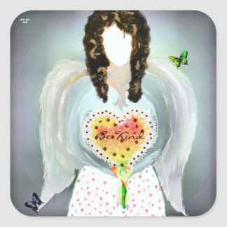 Angel Of Kindness Square Sticker