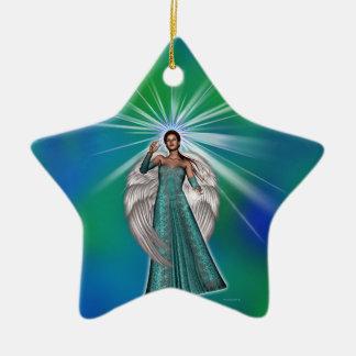Angel of Light Ceramic Ornament