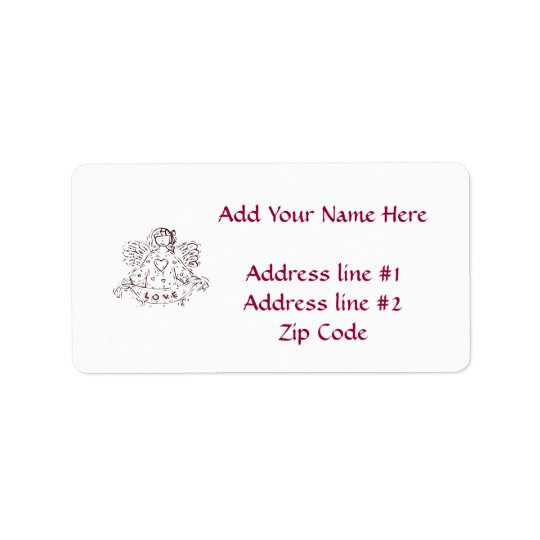 Angel of Love Address Label