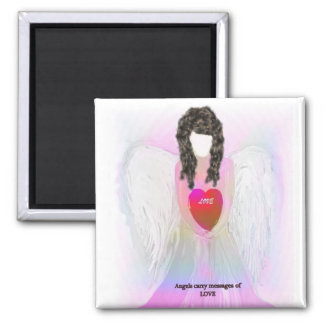 Angel Of Love Square Magnet