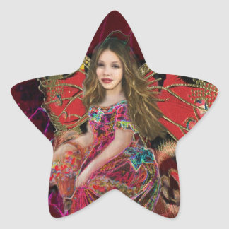 Angel of Love Star Sticker