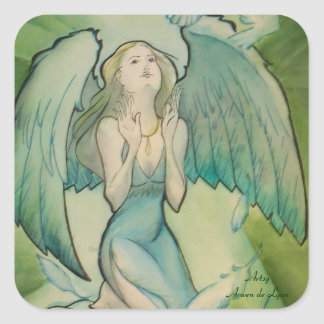 Angel of Peace Square Sticker