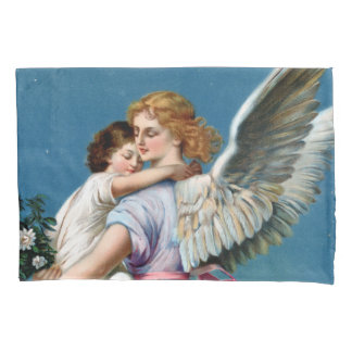 Angel of Peace Vintage Poster Restored Pillowcase