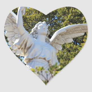 Angel of Revelation Heart Sticker