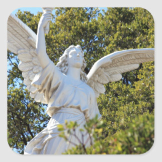 Angel of Revelation Square Stickers