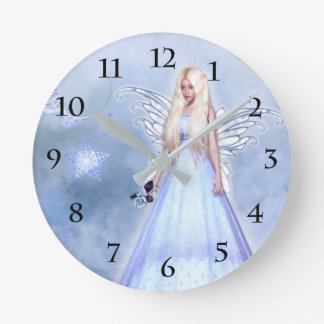 Angel Of Sympathy Round Clock