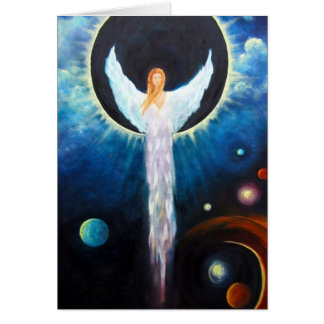 """""""Angel Of The Eclipse"""" Fine Art Greeting Card"""