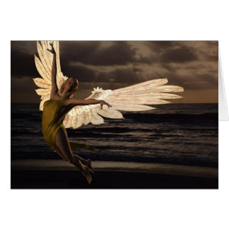 Angel of the Golden Sunset (poem) Greeting Card