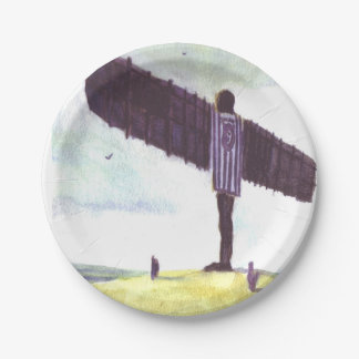 Angel of The North Paper plate 7 Inch Paper Plate