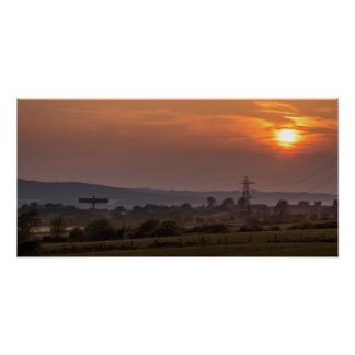 Angel of The North Sunset Poster/Print Poster