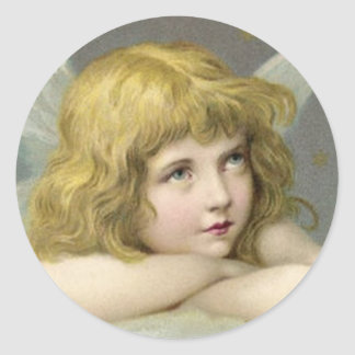 Angel on a Cloud Classic Round Sticker