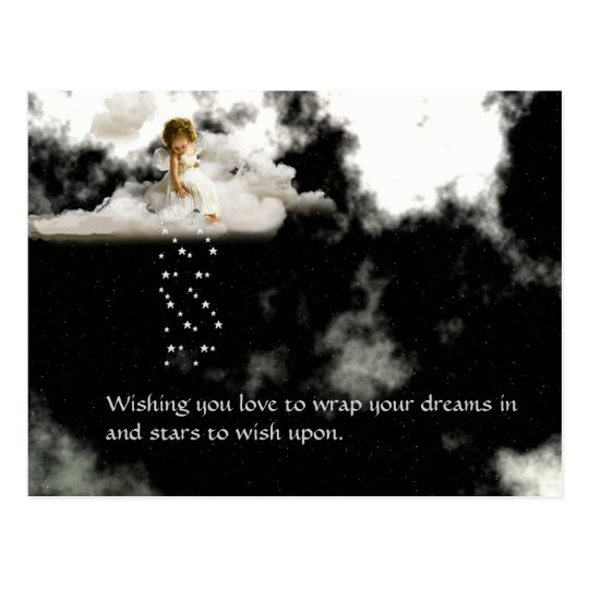 Angel on a Cloud Love Postcard