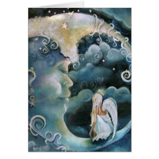 Angel on the Moon Note card