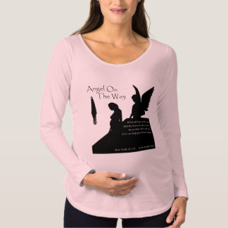 Angel On The Way Maternity Long Sleeve T-Shirt