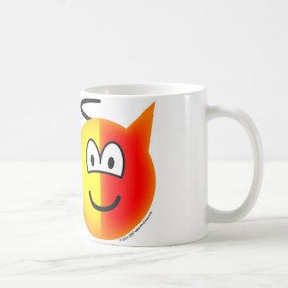 Angel or devil emoticon coffee mug