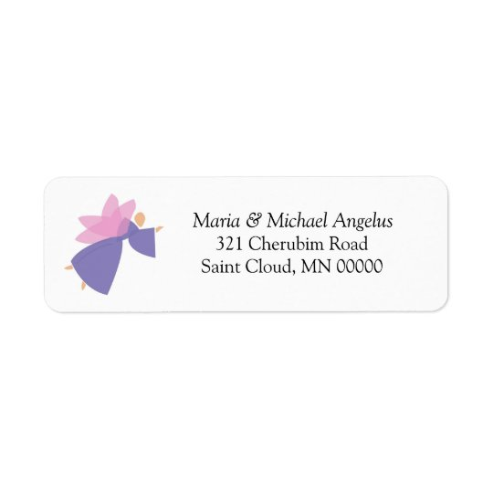 Angel Personalised Weddings Invitations Stickers Return Address Label