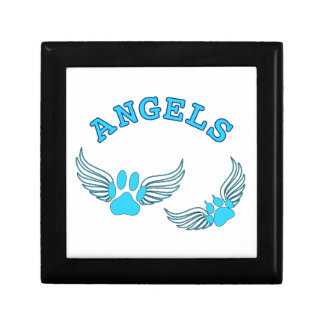 Angel Pet Paws In Blue Gift Box
