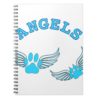 Angel Pet Paws In Blue Notebooks