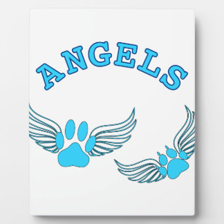 Angel Pet Paws In Blue Plaque