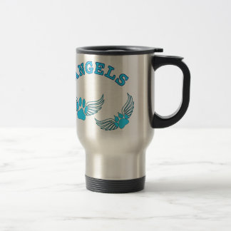 Angel Pet Paws In Blue Travel Mug