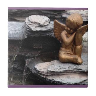 Angel photo ceramic tile