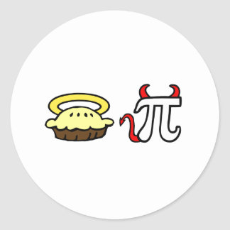 Angel Pie & Devil Pi Classic Round Sticker