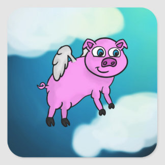 Angel Piggy Stickers