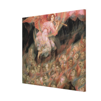 Angel Piping to Souls in Hell by Evelyn De Morgan Stretched Canvas Prints