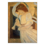 Angel Playing a Flageolet by Burne Jones Christmas