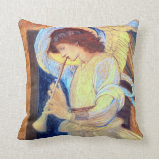 Angel Playing a Flageolet Throw Pillow