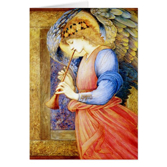 Angel Playing a Flageolet ~ Vintage Christmas Card