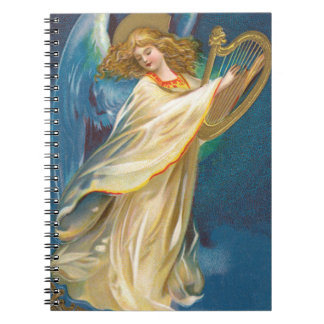 Angel Playing Harp Notebook