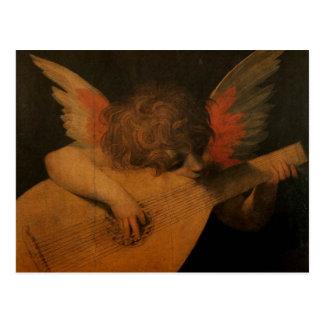 Angel Playing Music Postcard