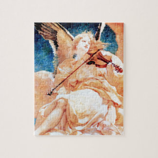 Angel Playing Violin painting Jigsaw Puzzle