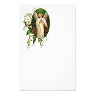 Angel Praying In a Garden Stationery Design