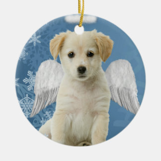 Angel Puppy Christmas Ornament
