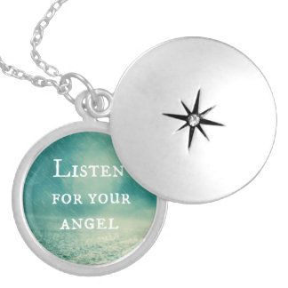 Angel Quote Locket Necklace