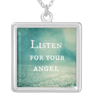 Angel Quote Silver Plated Necklace